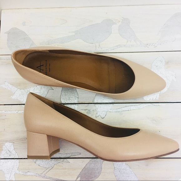 82c374b109c7 Aquatalia Shoes - Aquatalia Phoebe Blush Nude Block Pumps Size 7